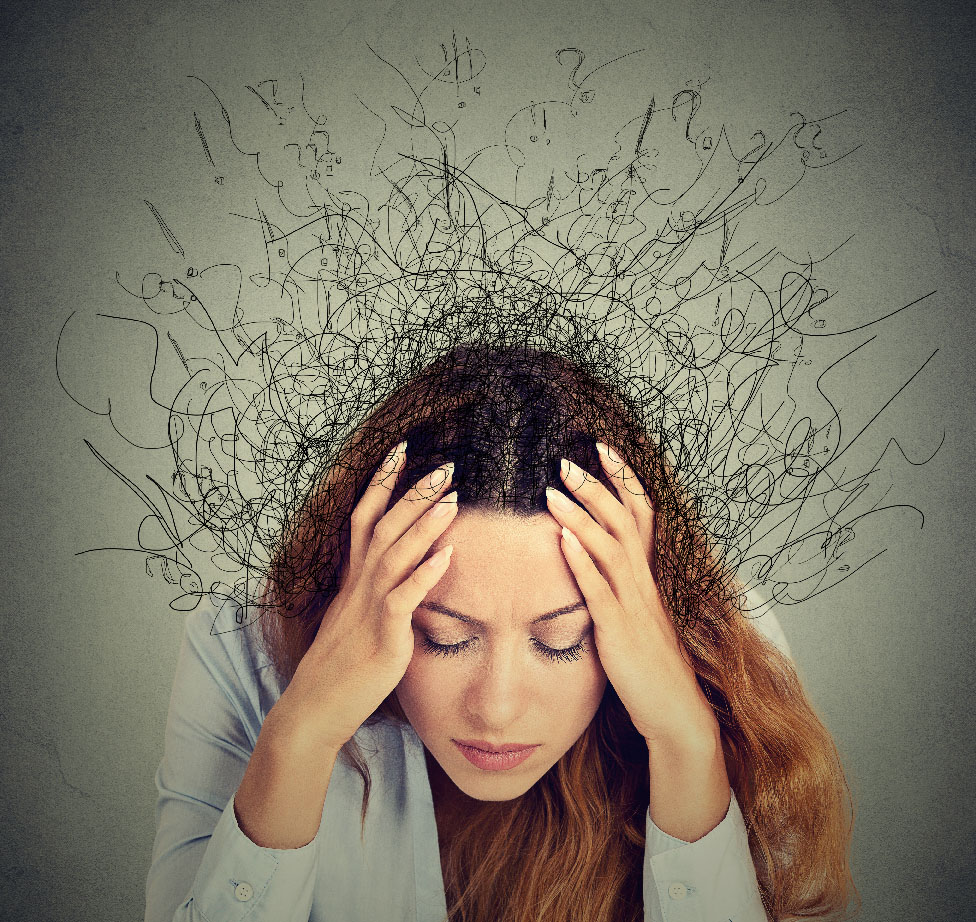 A woman, whom is struggling with ADHD