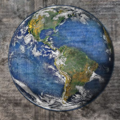 A picture of the globe.