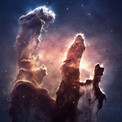 A picture of the pillars of creation.